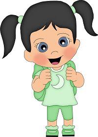 School Back To School Clipart, School Health, Child Doll, Little Books, Cartoon Kids, Embroidery Art, Art School, Art Girl, Fiber Art