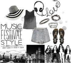 Monday Mood Board {Music Festival} #FashionFestival #StyleInspiration #Lollapalooza, #Lolla2014, Summer Concert Style - here are a few of our favorite product picks via @zieben @sofistellas @marleesstyle all product details listed here: http://blog.styleshack.com/monday-mood-board-music-festival/