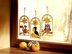 Jesienne inspiracje, dekorujemy okno na jesień. Inspired by Autumn - www.liradom.com.pl