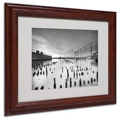 "Trademark Art ""Palimpsest"" by Geoffrey Ansel Agrons Matted Framed Photographic Print Size: 11"" H x 14"" W x 0.5"" D, Frame: Brown - Beveled"