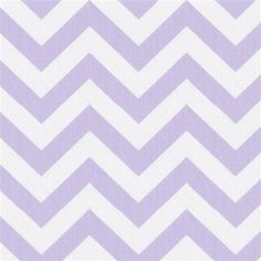Lilac and White Zig Zag Fabric | Carousel Designs #fabric #chevron #nursery