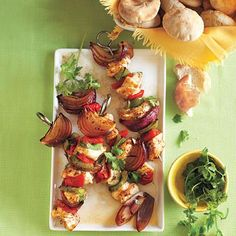 Finger Food Recipes: Chicken and Pepper Kebabs