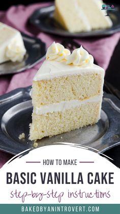 Frosting Recipes, Cupcake Recipes, Baking Recipes, Cupcake Cakes, Dessert Recipes, Cupcakes, Wasc Cake Recipe, Basic Vanilla Cake Recipe, Pear And Almond Cake