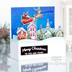 Crafty with Caly: Santa's Sleigh Ride Slider Box Card - Simon Says Stamp Blog
