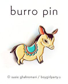 BURRO Enamel Pin Donkey Pin Donkey Brooch  Boygirlparty Pins