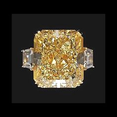 14k Whie Gold Cushion Cut Champagne Diamonds 5.20 ct. Engagement Ring.......