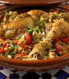 Marroko-Hähnchen Asian Recipes, Healthy Recipes, Ethnic Recipes, Vermicelli Recipes, Arabian Food, Couscous Recipes, International Recipes, Meal Prep, Chicken Recipes