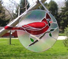 Carlton the cardinal II suncatcher