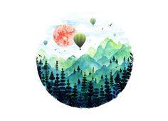 Roundscape by Fil Gouvea | Threadless