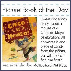 Fun story to introduce kids to Cinco de Mayo! It can also be used in activities for language arts like listening to verbs, and learning Spanish words. Make and try the foods that are mentioned, or do arts and crafts by making a piñata!  Find more ways to celebrate Cinco de Mayo from @MKBlogs
