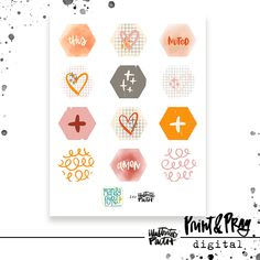 Letters, Doodling, & Jesus by Valerie Wieners - Illustrated Faith Faith Bible, Illustrated Faith, Love Letters, Honeycomb, Amen, Pray, Doodles, Notes, Illustration