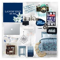 """""""Design Your Dream Dorm with Lands' End: Contest Entry"""" by jamiexynos ❤ liked on Polyvore"""