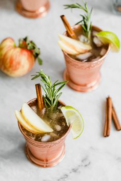 Autumn Moscow Mule - the perfect autumn drink with notes of ginger, cinnamon, and crisp apples.