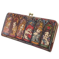 Disney Princess / purse: women's: Linnet purse long wallet leather, stained glass collection / Disney ☆ diversion (leather) wallet / anime toy store ☆ ◆