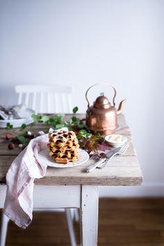 Butternut squash waffles - Carnets Parisiens