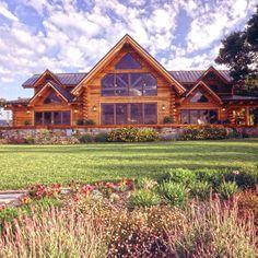 Modern Log Home