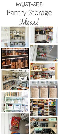 These Pantry Storage Ideas are the BEST!  This site also has hundreds of other tutorials and tips on painting anything in or outside of your home!  A must REPIN for DIYers
