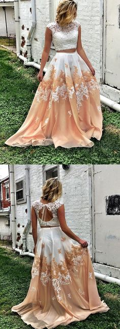 Two Pieces Elegant Prom Dress,Long Prom Dresses,Prom Dresses,Evening Dress, Evening Dresses,Prom Gowns, Formal Women Dress