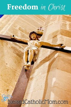 Jesus died so we may be free from sin. We can choose to live this freedom in Christ, or turn away from His gift. We make this choice every day. Catholic Blogs, The Good Catholic, Catholic News, Catholic Doctrine, Catholic Marriage, Seven Sacraments, Jesus Our Savior, Freedom In Christ, Apostles Creed