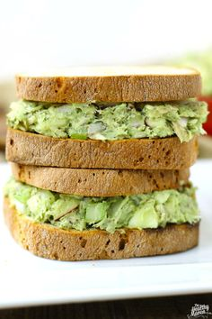 Avocado Tuna Salad. Get in the belly! Would put on wrap rather than bread.