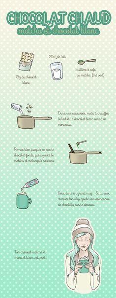 recette chocolatchaudmatcha Le chocolat chaud du dimanche : matcha et chocolat blanc
