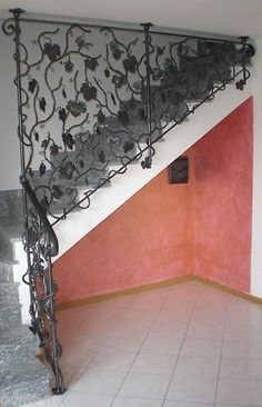RINGHIERA FERRO BATTUTO . Realizzazioni Personalizzate . 010 Wrought Iron, Scale, Stairs, Ebay, Home Decor, Arquitetura, Houses, Weighing Scale, Stairway