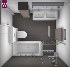 Badkamerontwerp van zeer complete #badkamer