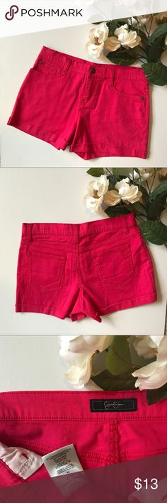 Pink Jessica Simpson Shorts Adorable pink Jessica Simpson shorts! Size 16 kids. In great condition. Jessica Simpson Bottoms Shorts