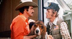 "The movie ""Smokey and the Bandit"", directed by Hal Needham. Seen here, Jerry Reed as Cledus. Initial theatrical wide release May Burt Reynolds Sally Field, Bandits Costume, Jerry Reed, Smokey And The Bandit, Bassett Hound, Hound Dog, Classic Movies, Classic Tv, Great Movies"