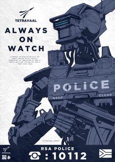 Poster Posse Tribute to Neill Blomkart's Sci Fi Chappie