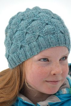 Free Knitting Pattern for Beads and Bows Headband - Beanie with all over slipped stitch that is customizable for all sizes from baby to adult. Designed by Sofiya Cremin. Pictured project by alittlecraftynest Beanie Knitting Patterns Free, Knitting Stitches, Knit Patterns, Free Knitting, Knitting For Charity, Knitting For Kids, Motifs Beanie, Butterfly Stitches, Knitted Hats Kids