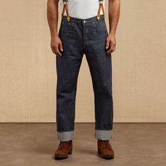 These Levi's 501 jeans are from their vintage collection, based on a style dating to 1915.