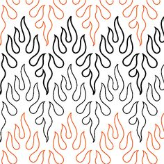 Brush Fire - Paper - - Quilts Complete - Longarm Continuous Line Quilting Patterns Quilting Stitch Patterns, Machine Quilting Patterns, Quilt Stitching, Quilt Patterns Free, Quilting Designs, Quilting Stencils, Quilting Templates, Quilting Tutorials, Longarm Quilting