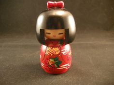 Vintage Japanese Kokeshi Hand Painted and Signed by cerritorose, $20.00