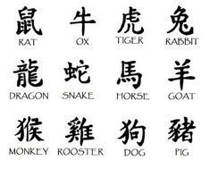 Chinese Zodiac Symbols — from prntr.com. The Chinese Zodiac (also known as the Eastern Zodiac) is composed of twelve different animal symbols, each one representing a different personality type. The animals of the Chinese Zodiac are Rat, Ox Tiger, Rabbit (a.k.a. Hare), Dragon, Snake, Horse, Ram (a.k.a. sheep or goat), Monkey, Rooster, Dog and Pig.