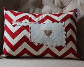 State Pillow - Oklahoma. $25.00, via Etsy. Great christmas idea but I think I'll try to craft this :)