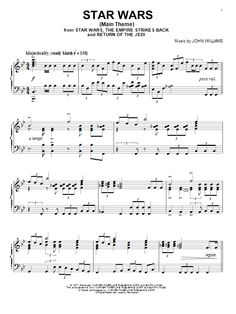 John Williams: Star Wars (Main Theme) - Partition Piano Solo - Plus de 70.000 partitions à imprimer !