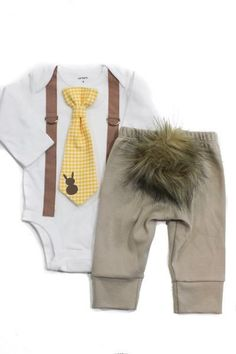 ad753b18f infant boy easter outfit with onesie and pants, Bunny Hop Outfit Set Baby  Easter Outfit