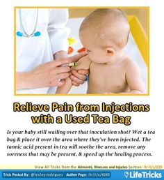 Ailments, Illnesses and Injuries - Relieve Pain from Injections with a Used Tea Bag