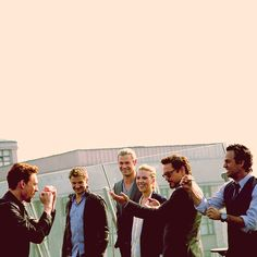 ...the avengers cast. Adorable in every way :3