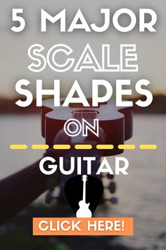 Learn to play all 5 major scale shapes and patterns on guitar in C, as well as how to use the major scale shapes to solo. Free PDF with all the scale shapes included! Lead Guitar Lessons, Free Online Guitar Lessons, Easy Guitar Songs, Guitar Tips, Guitar Scale Patterns, Types Of Guitar, Major Scale, Guitar Scales, Guitar For Beginners