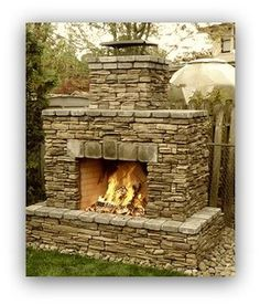 Outdoor fire place - good size next to fence, or inside patio