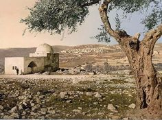 Tomb of Rachel - taken between 1890 and 1900 in Holy Land.