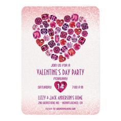 ValentineS Day Cocktail  Sweets Party Invitation  Party Invitations