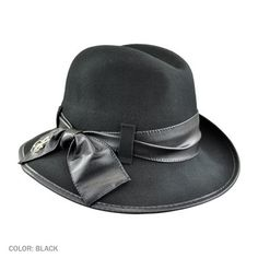 Pursue is a comfortable wool felt center dent fedora with a trendy dimensional brim.