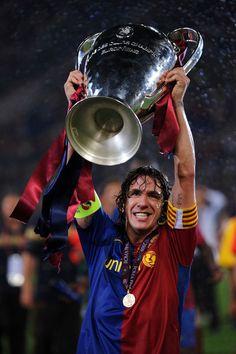 Carles Puyol, born 13 April 1978, Spanish defender (mainly central defender), FC Barcelona (1999-2014)