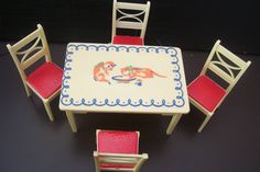 Stenciled table and chair set