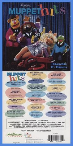 Jim Henson Presents The Muppet Hits album on this vintage 1993 CD. Contains a lot of your favorite Muppet songs including but not limited to The Muppet Show Theme, MahNa MahNa, Happy Feet and the Closing Theme. It's $49.96, or less if you make an offer, right now on eBay.  MahNa MahNa!