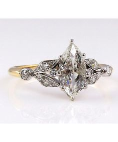 One-of-a-kind antique diamond engagement ring.