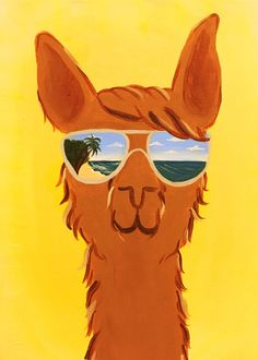 """Paint """"Glama Llama"""" with us at #GOTGFUN"""